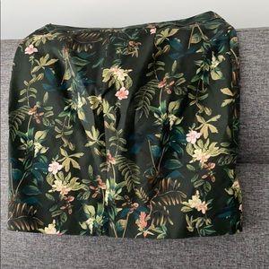 Tropical pattern skirt